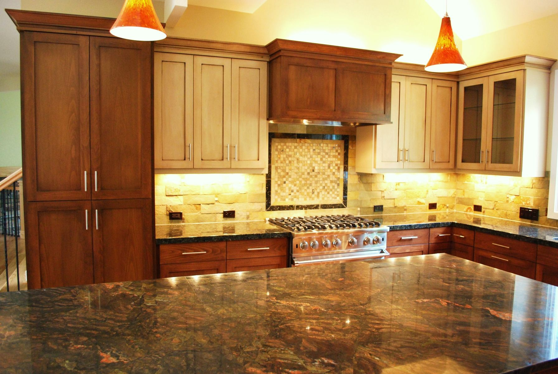 Handmade Multi Finish Kitchen by Woodworks Inc. | CustomMade.com