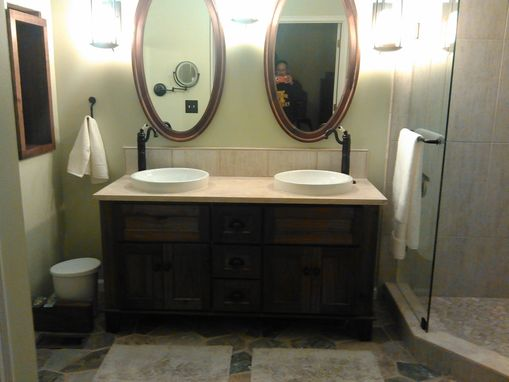 Custom Made Double Vanity-  Walnut
