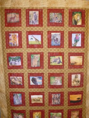 Custom Made Photo Custom Made African Wildlife Quilt
