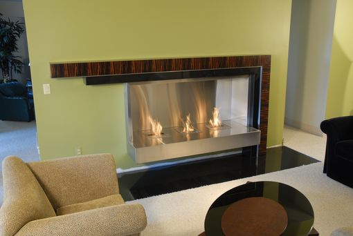 Custom Made Macassar Ebony Fireplace Mantle