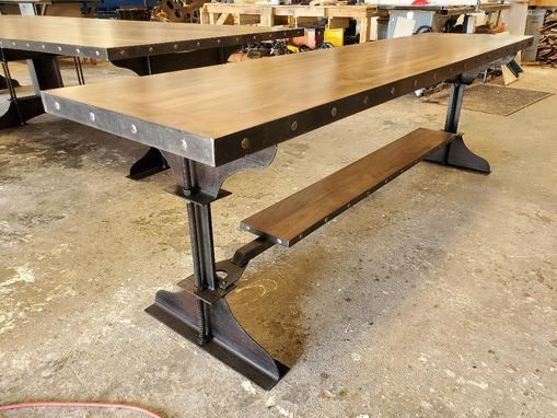 Custom Made Industrial Walnut Conference Table