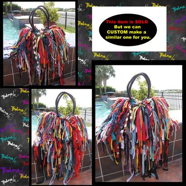 Custom Made Bohemian Fringe Handbag,Upcycled Fabric,Unique,Hippie,Boho,Funky,Purse,Tote