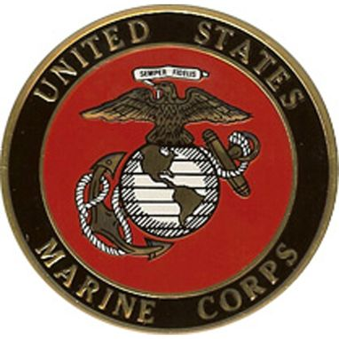 Custom Made Marine Corps Color Medallion