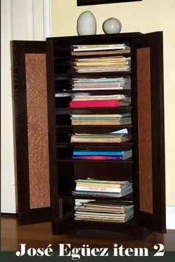 Custom Made Wooden Music Cabinet