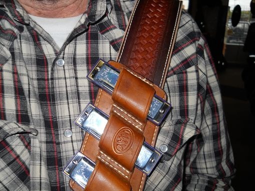 Custom Made Leather Harmonica Holder