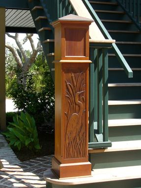 Custom Made Egret Newel Post