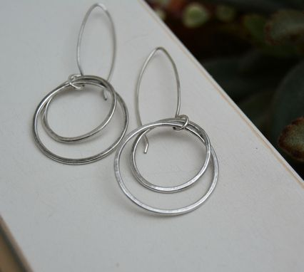 Custom Made Interlocking Sterling Silver Hoop Earrings
