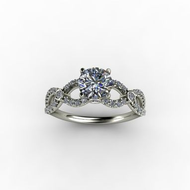 Custom Made Infinity Diamond Engagement Ring