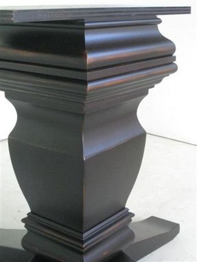 Custom Made Crown Pedestal Base