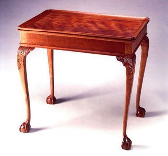 Custom Made Mahogany Boston Tea Table