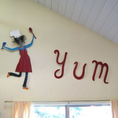 Custom Made Handmade Upcycled Metal Yum Wall Art Decor