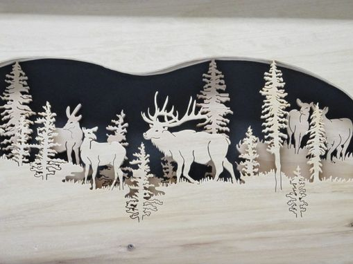 Custom Made Layered Wildlife Scene