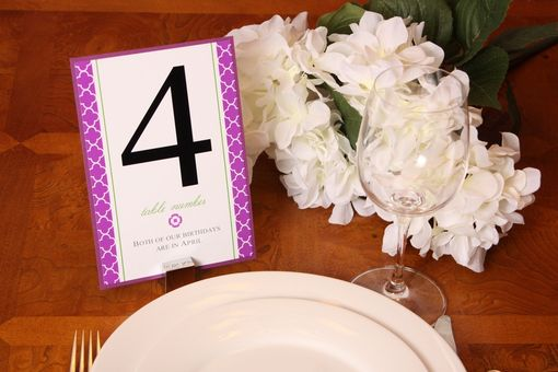 Custom Made Wedding Table Numbers, Luxe Personalized Design, Customized Wedding Decor