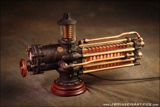Custom Made The Photonic Siphuncle Primary: A Hand-Made Steampunk Styled Lamp