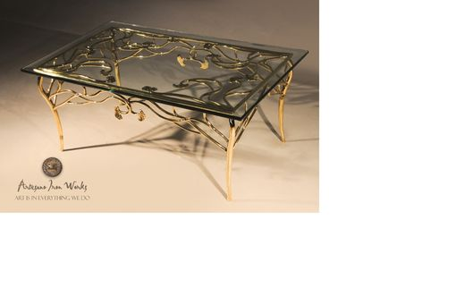 Custom Made Gingko Bronze Coffee Table