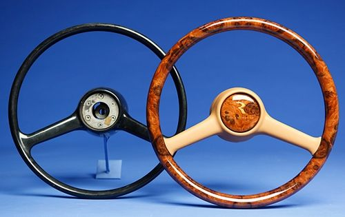 Custom Made Pre Airbag Full Wood Steering Wheel