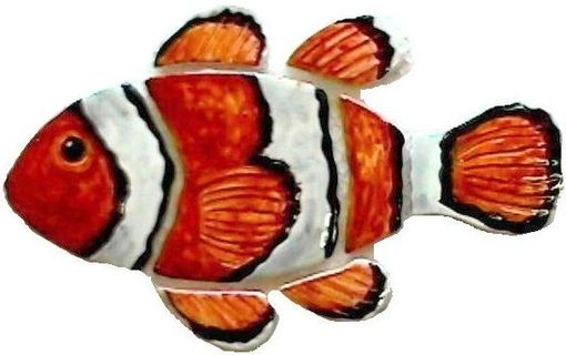 Custom Made Figure Of Fishes In Hand Crafted Ceramic Tile For Pools Or Bathrooms