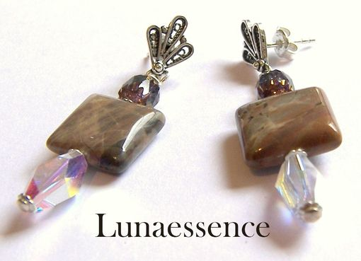 Custom Made Onyx Crystal Earrings