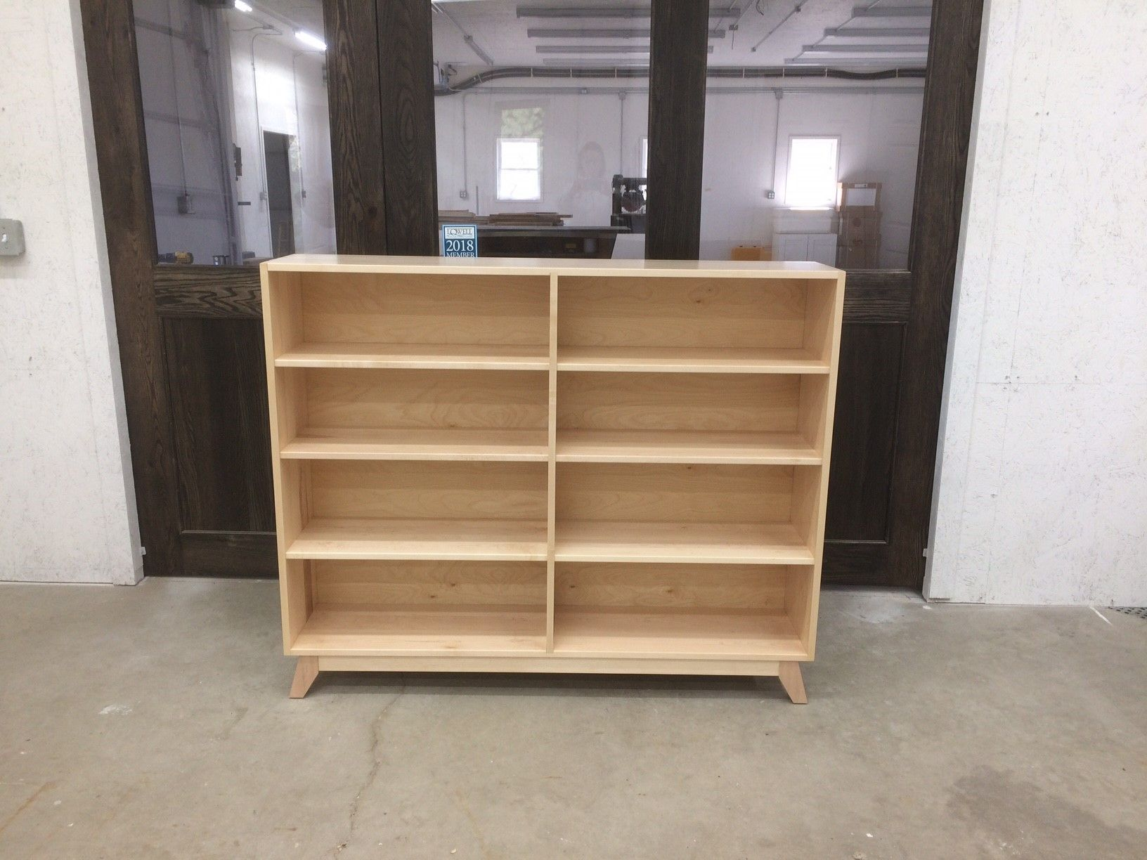 Custom Solid Maple Bookcase With Dovetail Construction By