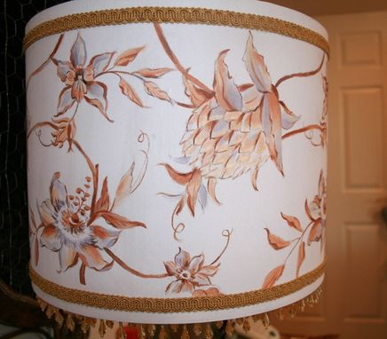 Custom Made Hand Painted Drum Shade