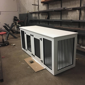 Handmade custom dog crates for toyota sienna by little for Sofa table dog crate