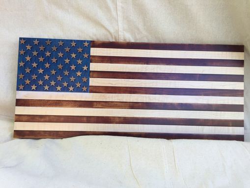 Custom Made Distressed Look American Flag