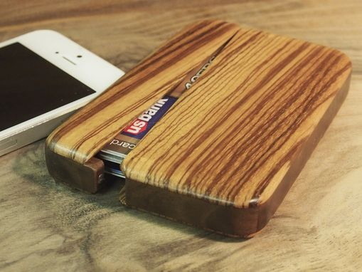 Custom Made Wood Wallet