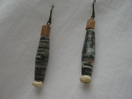 Custom Made Paper Bead Earrings