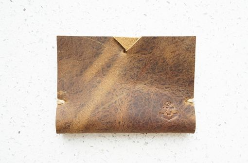 Custom Made Minimalist Leather Wallet Card Holder For Men