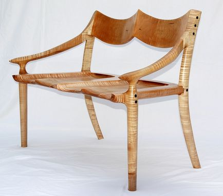 Custom Made Curly Maple Settee
