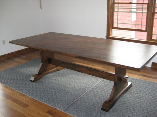 Custom Made Trestle Dining Room Table