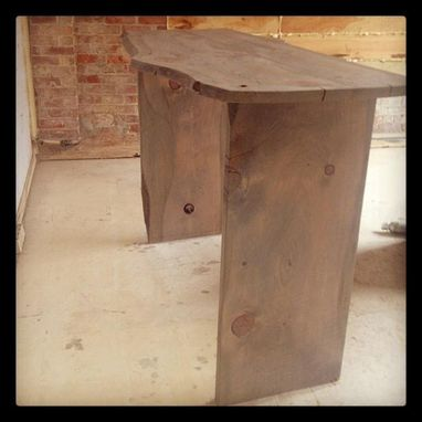 Custom Made Raw Edge Console Table
