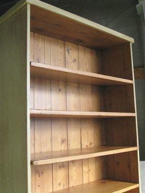 Custom Made Barnwood Hutch Armoire