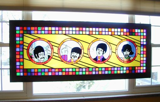 Custom Made The Fab Four In Stained Glass