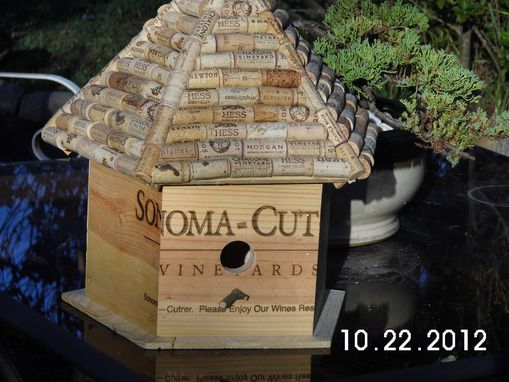 Custom Made Wine Box Birdhouses