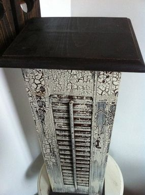 Custom Made Repurposed Shutter Table
