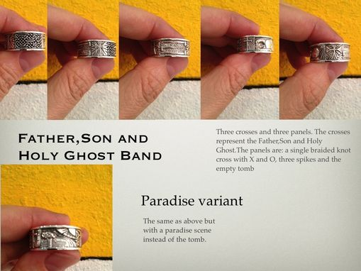 Custom Made Father Son And Holy Ghost Ring