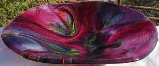 Custom Made Tie Dye Fused Glass Bowl
