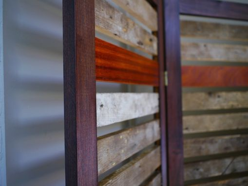 Custom Made Rustic Room Divider Made From Reclaimed Lumber