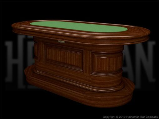 Custom Made Solid Wood Custom Poker Table