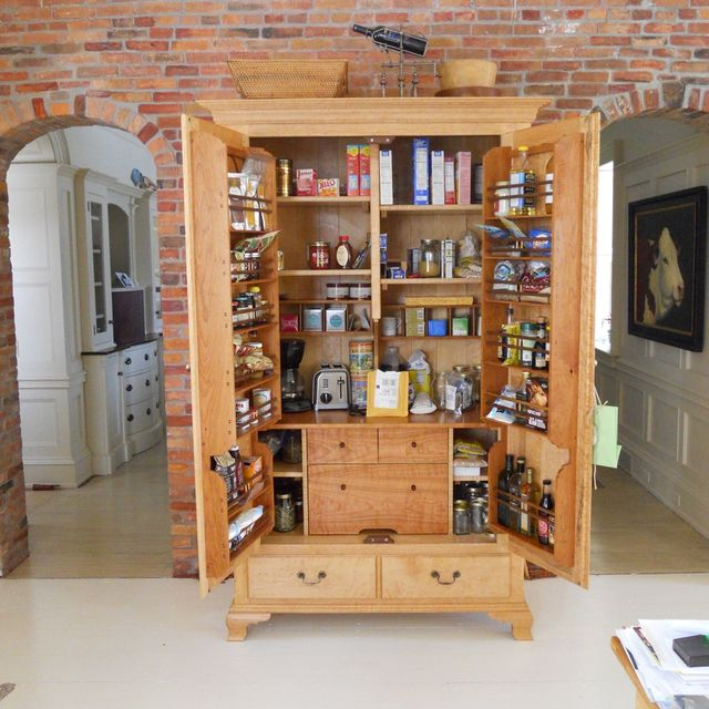 custom kitchen pantry cabinet by jeff koopus cabinet and chair maker custommadecom - Kitchen Pantries