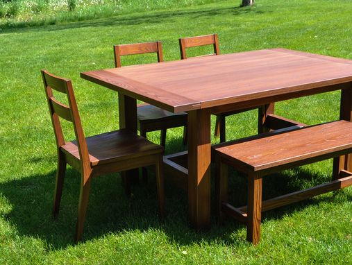 Custom Made Ash Breadboard Dining Set