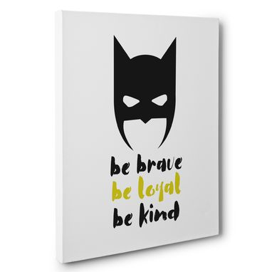 Custom Made Superhero Be Brave Canvas Wall Art