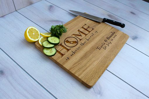 Custom Made Personalized Cutting Board, Engraved Cutting Board, Custom Wedding Gift – Cb-Wo- Travisbrenda