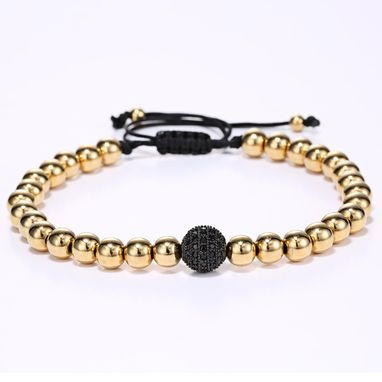 Custom Made Mini Gold & Black Bracelet John Kocak Jewels
