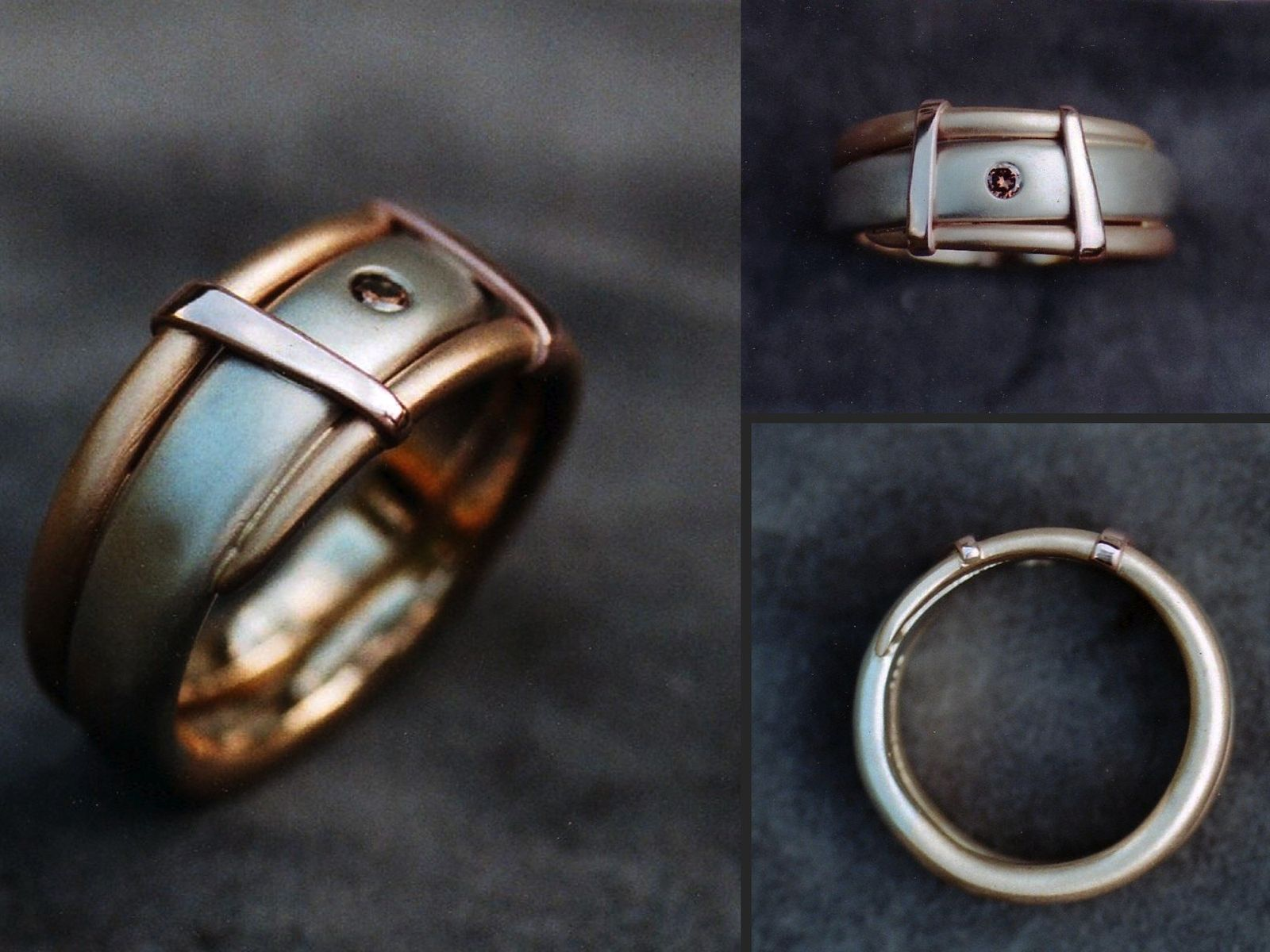 wedding silver forged rings oxidation shop relief