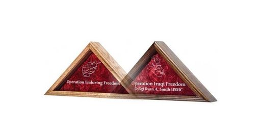 Custom Made Large Flag Display Case Enduring Freedom Flag Case