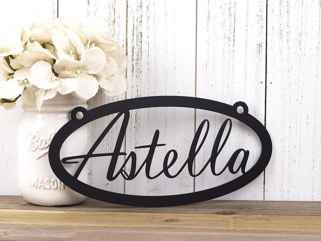 Buy a Hand Crafted Custom Name Metal Sign | Metal Wall Art ...
