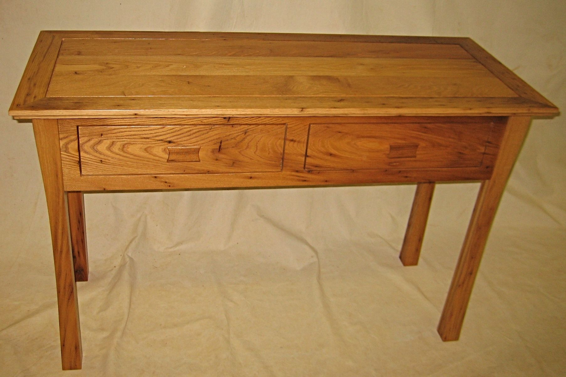 Custom wormy chestnut console table by miters touch woodworking custom made wormy chestnut console table geotapseo Choice Image