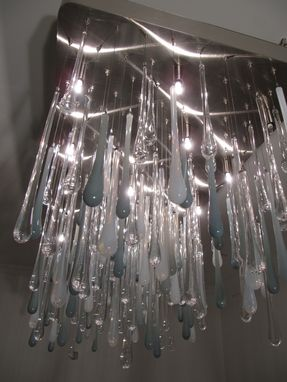 Custom Made Pioggia Rain Luxe Chandelier- Brushed Nickel